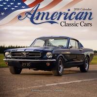 American Classic Cars Wall Calendar 2018 by Avonside