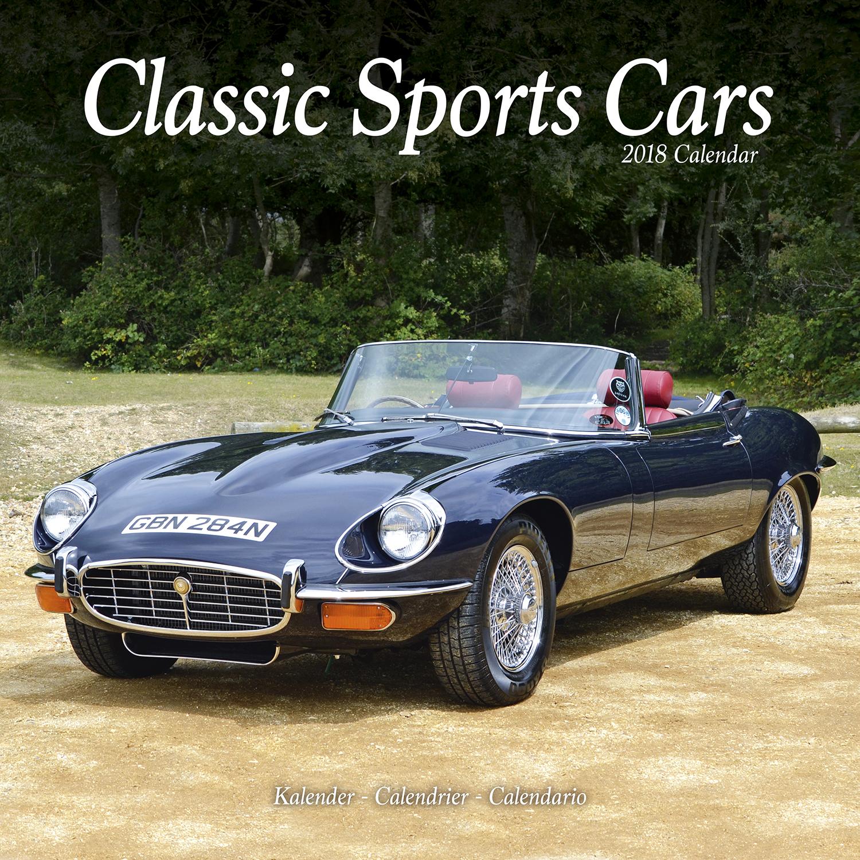 Classic Sports Cars Calendar 2018