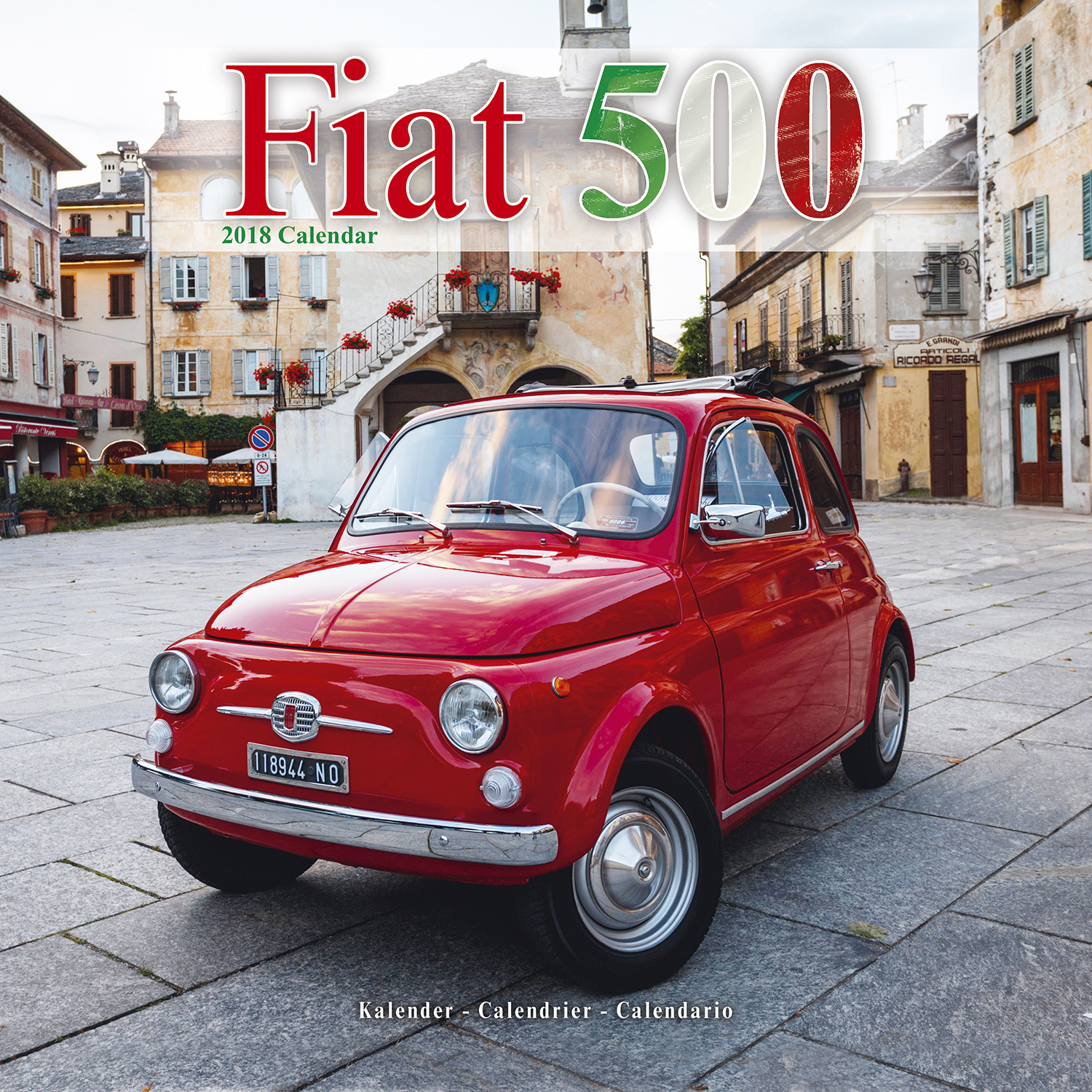 fiat 500 calendar 2018 pet prints inc. Black Bedroom Furniture Sets. Home Design Ideas