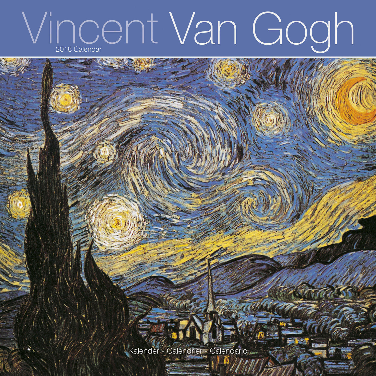 van gogh calendar 2018 pet prints inc. Black Bedroom Furniture Sets. Home Design Ideas