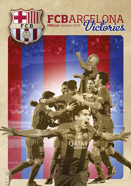 Barcelona Fc Victories Celebrity Wall Calendar 2018 8033675319971