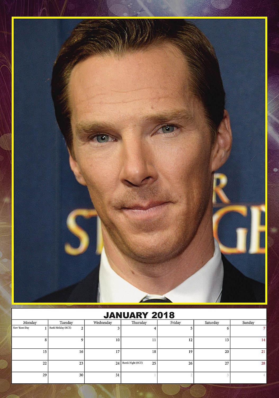 Benedict Cumberbatch Celebrity Wall Calendar 2018 inside 5060085406673