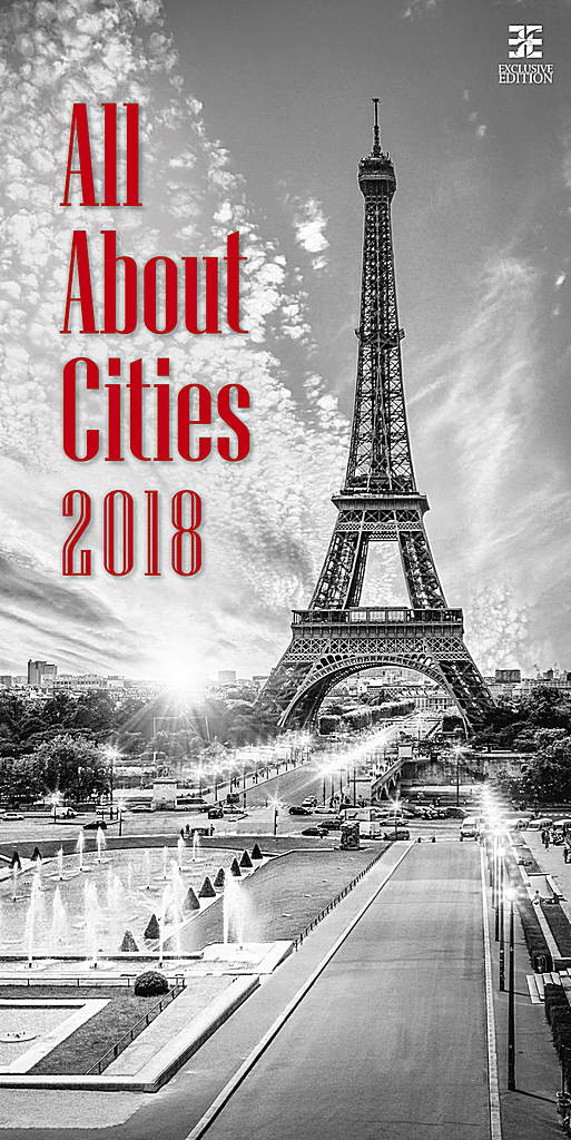 All About Cities Wall Calendar 2018 by Helma 8595230645722