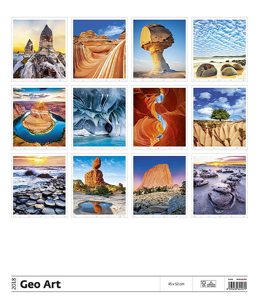 Geo Art Wall Calendar 2018 by Helma back 8595230645579