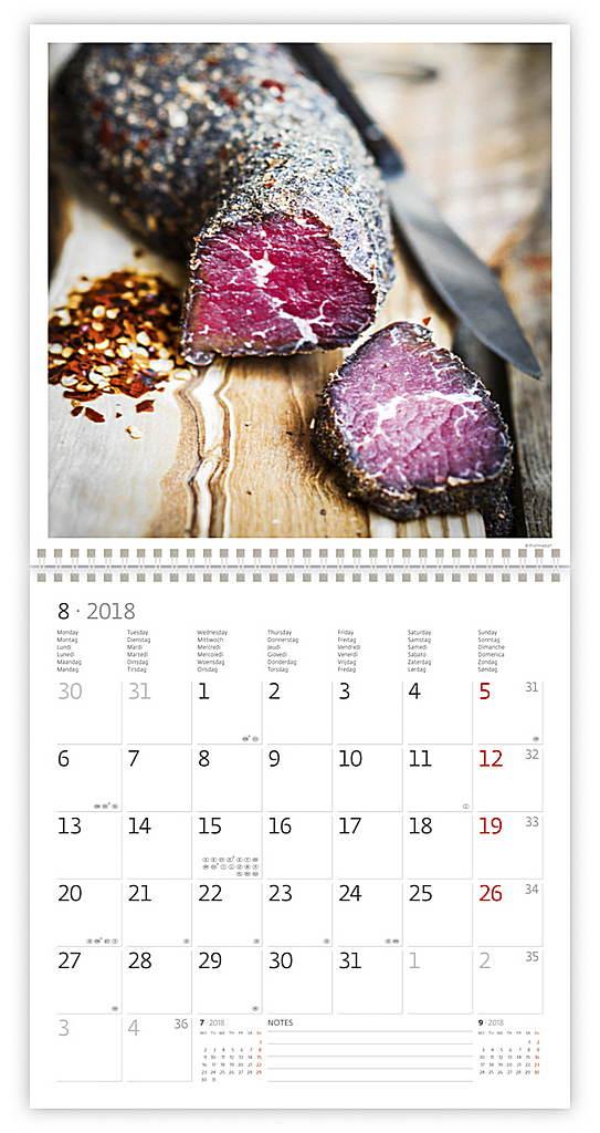 Gourmet Wall Calendar 2018 by Helma inside 8595230645463