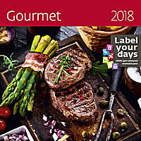 Gourmet Wall Calendar 2018 by Helma 8595230645463