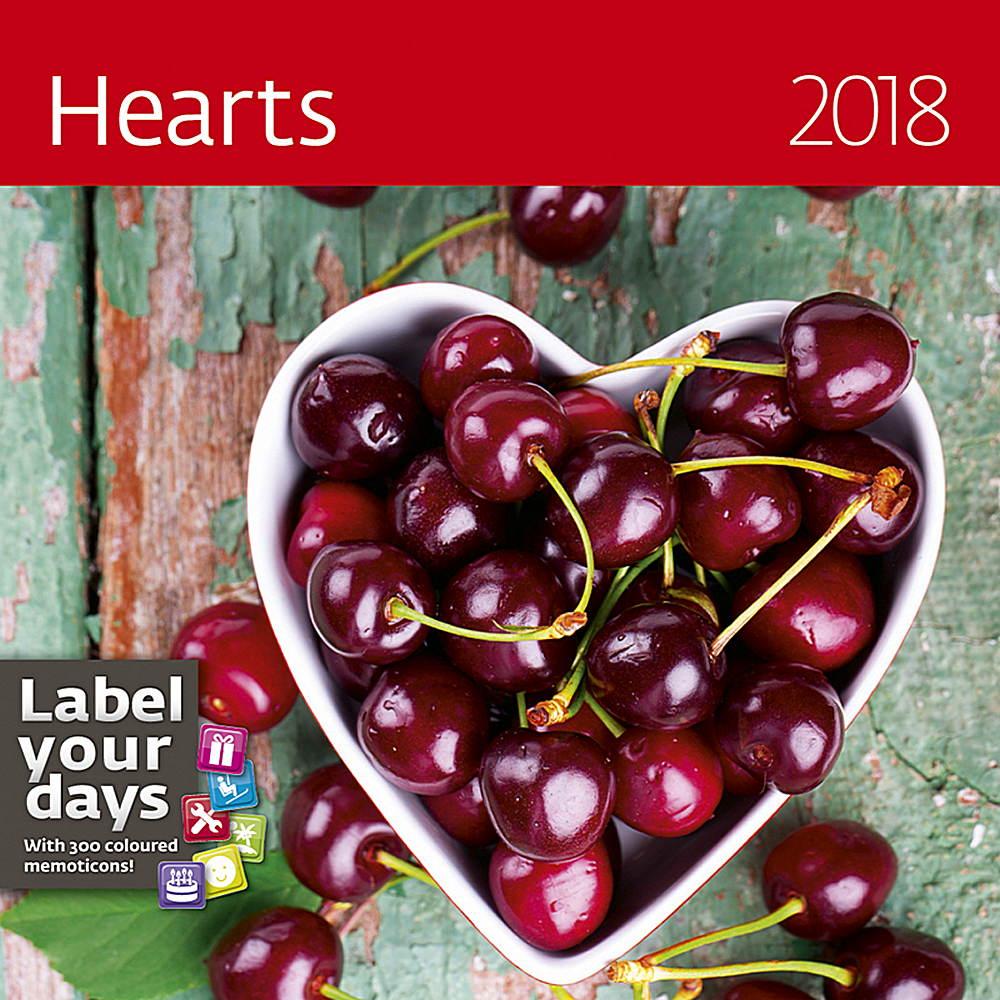 Hearts Wall Calendar 2018 by Helma 8595230645401
