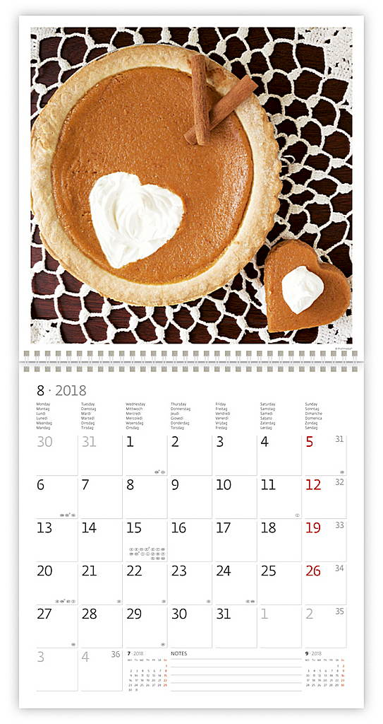 Hearts Wall Calendar 2018 by Helma inside 8595230645401