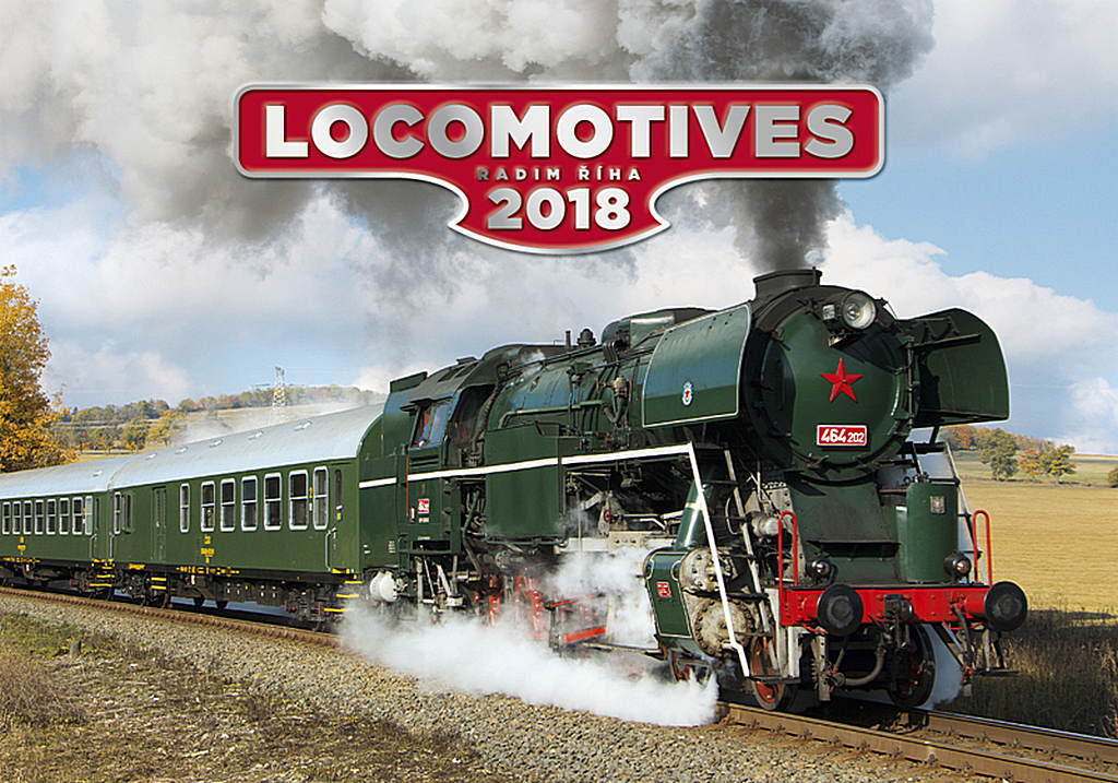 Locomotives Wall Calendar 2018 by Helma 8595230645944
