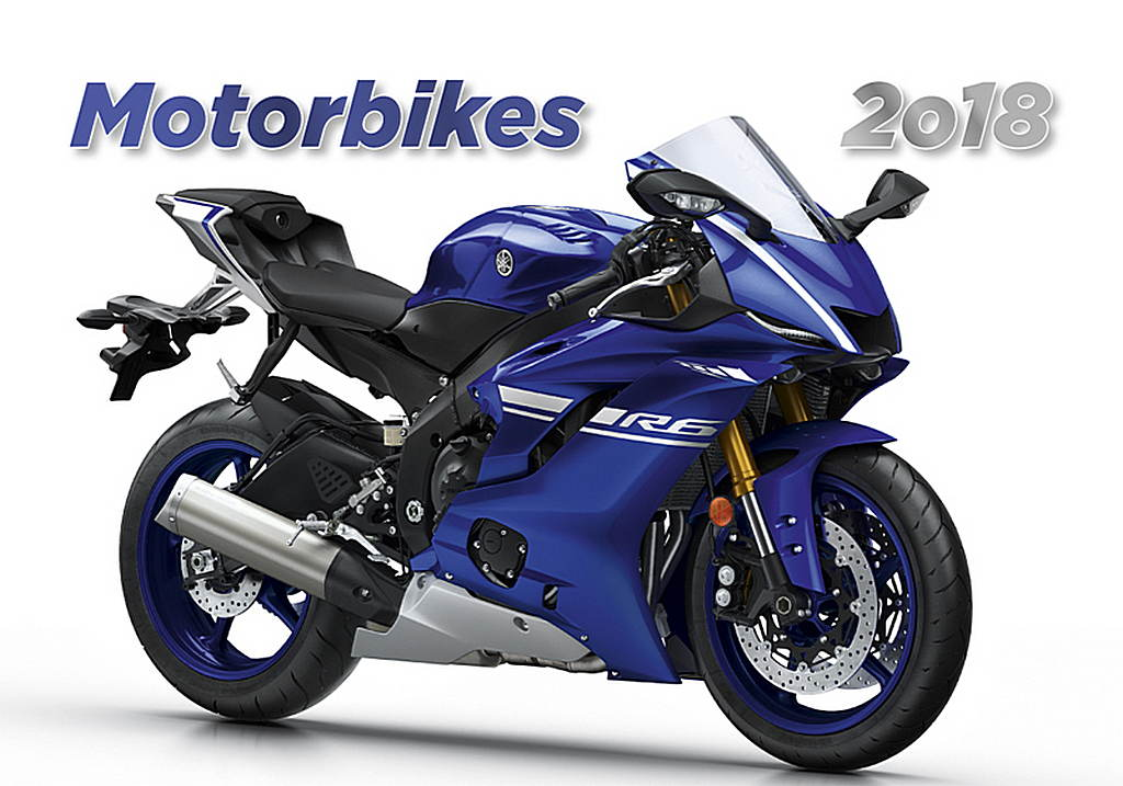 Motorbikes Wall Calendar 2018 by Helma 8595230644695