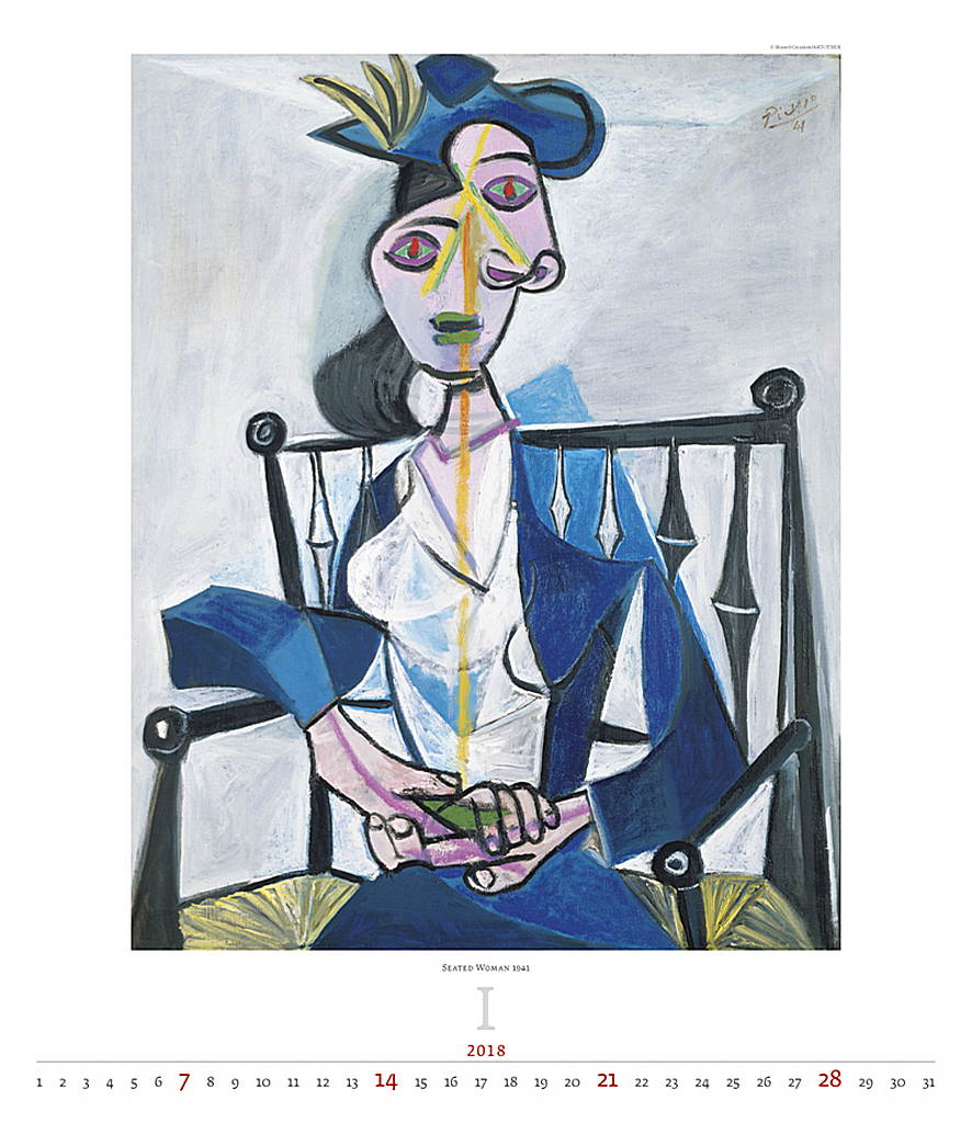 Pablo Picasso Women Wall Calendar 2018 by Helma inside 8595230644183