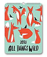 All Things Wild Poster Calendar 2018 by Orange Circle Studio