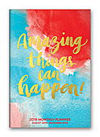 Amazing Things Can Happen! Monthly Pocket Planner 2018 by Orange Circle Studio