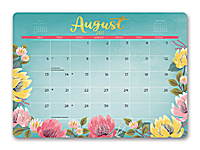 Bold Blossoms Decorative Desk Calendars 2018 by Orange Circle Studio