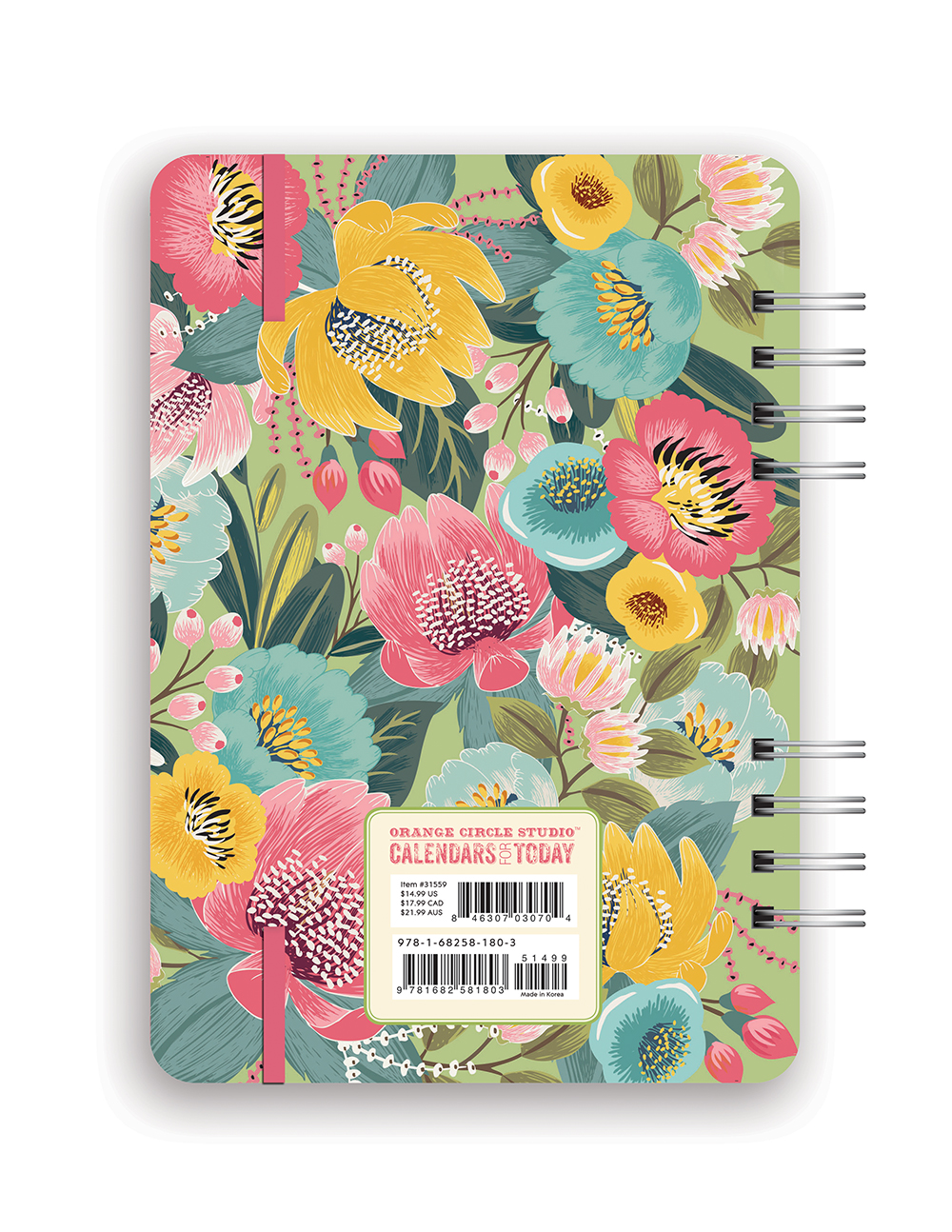 Bold Blossoms Do it All Planner 2018 by Orange Circle Studio back 9781682581803