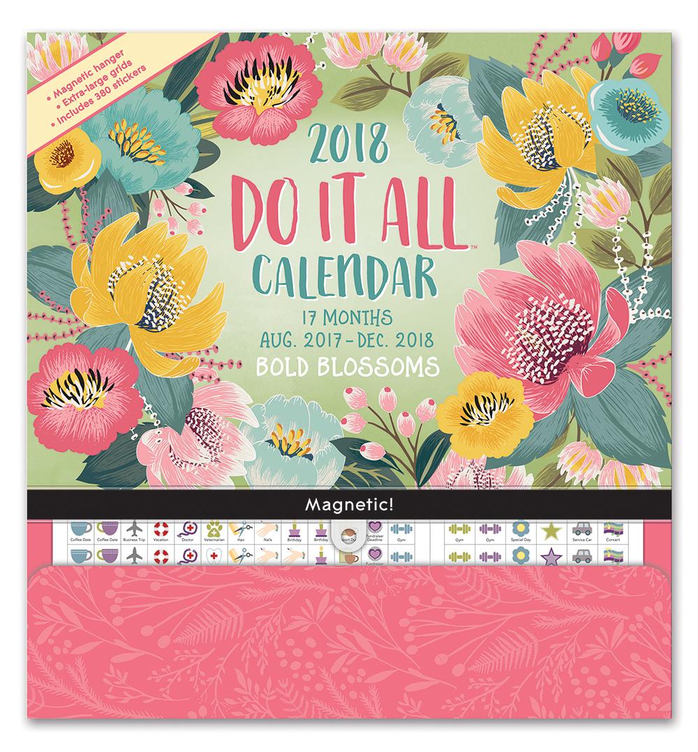 Bold Blossoms Do it All Wall Calendar 2018 by Orange Circle Studio 9781682581858