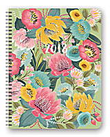 Bold Blossoms Extra Large Flexi Planner 2018 by Orange Circle Studio