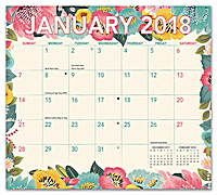 Bold Blossoms Magnetic Monthly Pad 2018 by Orange Circle Studio