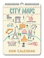 City Maps Mini Poster Calendar 2018 by Orange Circle Studio