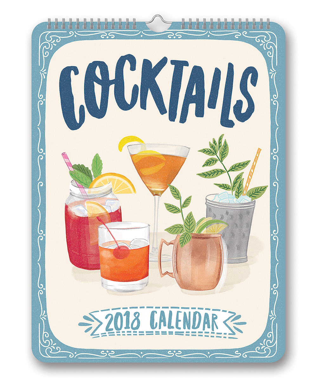 Cocktails Poster Calendar 2018 by Orange Circle Studio 9781682581742
