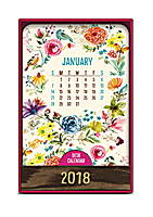 Flora and Fauna Wood Block Desk Calendar 2018 by Orange Circle Studio