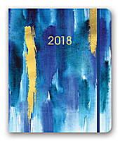 Gold Foil Bluette Hidden Spiral Agenda 2018 by Orange Circle Studio