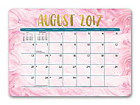 Gold Foil Marbling Decorative Desk Calendars 2018 by Orange Circle Studio 9781682582350