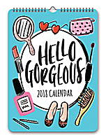 Hello Gorgeous Mini Poster Calendar 2018 by Orange Circle Studio