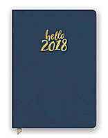 Hello Navy Leatheresque Medium Weekly Agenda 2018 by Orange Circle Studio