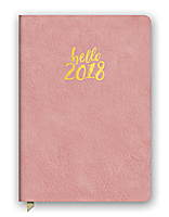 Hello Pink Leatheresque Medium Weekly Agenda 2018 by Orange Circle Studio