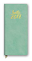 Hello Sea Green Leatheresque Jotter Agenda 2018 by Orange Circle Studio