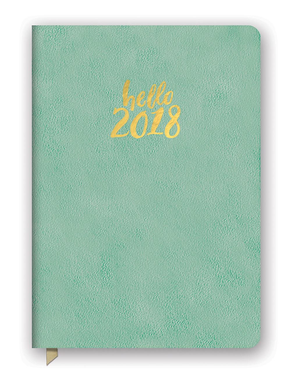Hello Sea Green Leatheresque Medium Weekly Agenda 2018 by Orange Circle Studio 9781682582466