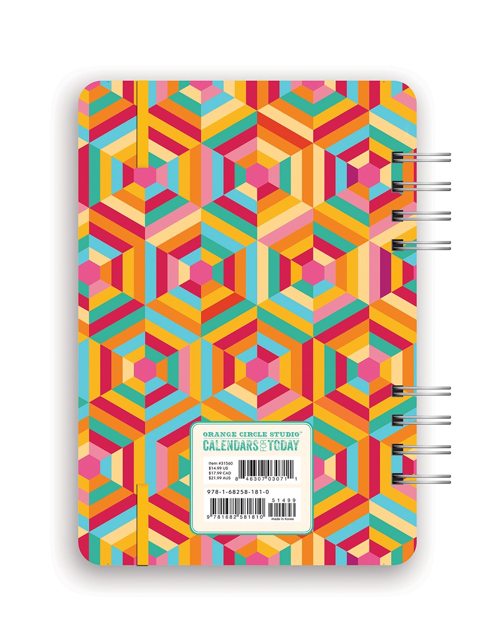 Kaleidoscope Do it All Planner 2018 by Orange Circle Studio back 9781682581810
