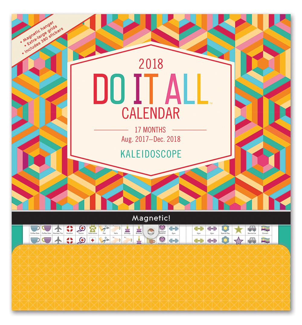 Kaleidoscope Do it All Wall Calendar 2018 by Orange Circle Studio 9781682581865