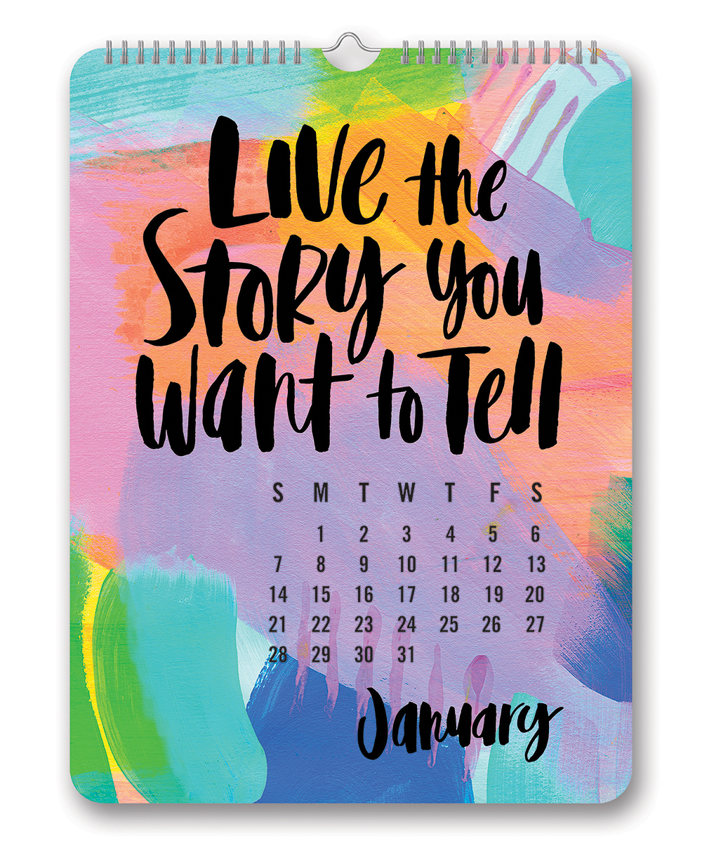 Make Today Ridiculously Amazing Poster Calendar 2018 by Orange Circle Studio back 9781682581766