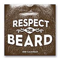 Respect the Beard Wall Calendar 2018 by Orange Circle Studio