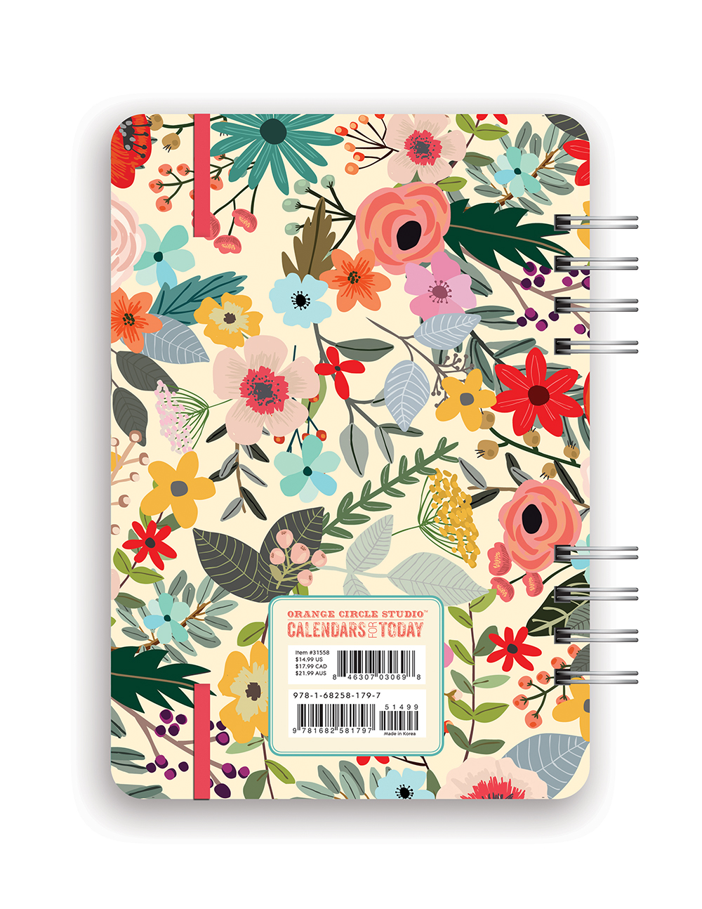 Secret Garden Do it All Planner 2018 by Orange Circle Studio back 9781682581797