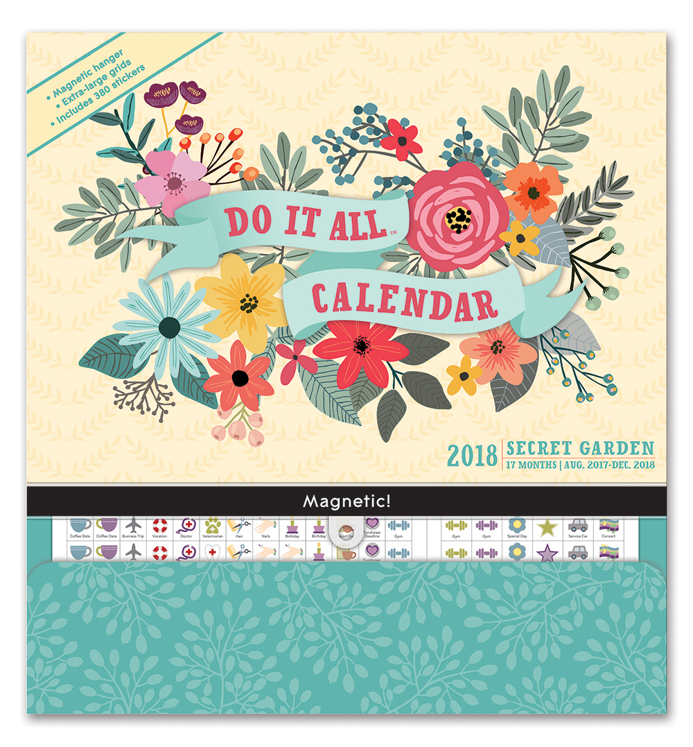 Secret Garden Do it All Wall Calendar 2018 by Orange Circle Studio 9781682581841