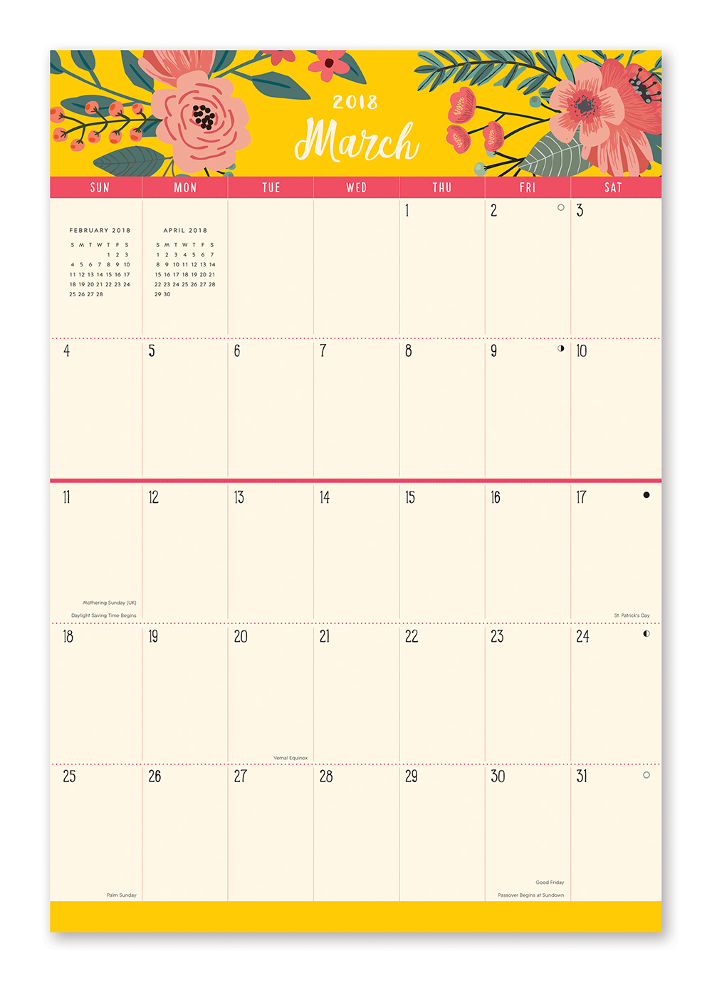 Secret Garden Do it All Wall Calendar 2018 by Orange Circle Studio inside 9781682581841