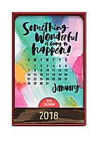 Something Wonderful Wood Block Desk Calendar 2018 by Orange Circle Studio