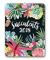 Succulents Poster Calendar 2018 by Orange Circle Studio