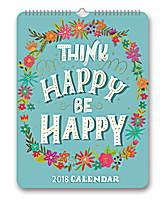 Think Happy Be Happy Poster Calendar 2018 by Orange Circle Studio