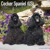 Cocker Spaniel (US) Wall Calendar 2018 by Avonside
