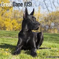 Great Dane (US) Wall Calendar 2018 by Avonside