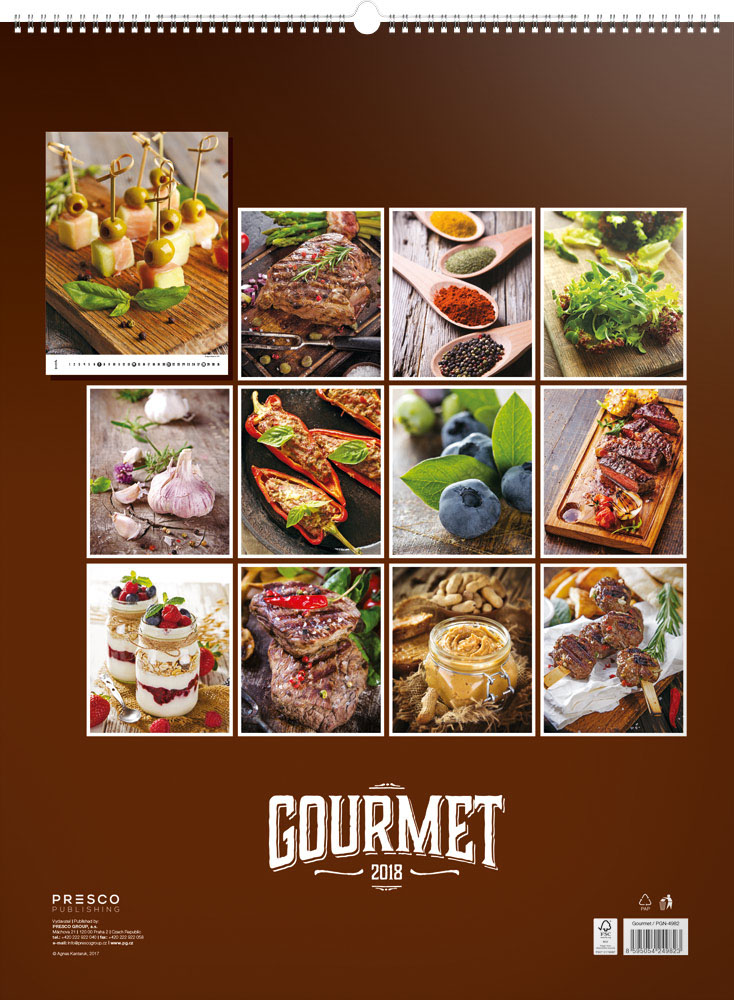 Gourmet Calendar 2018 by Presco Group back 8595054249823