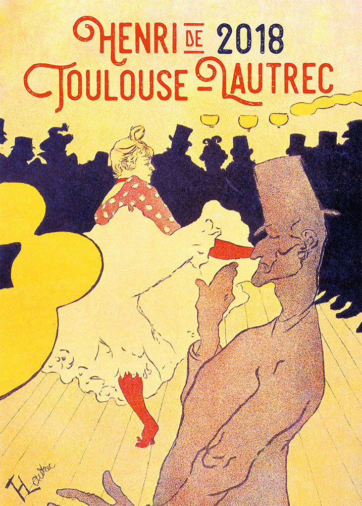 Henri de Toulouse-Lautrec Calendar 2018 by Presco Group 8595054252649