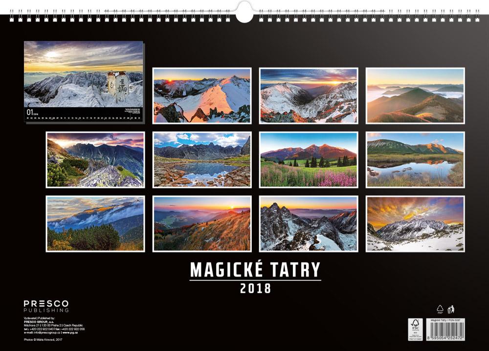 Magical Tatras Calendar 2018 by Presco Group back 8595054252472