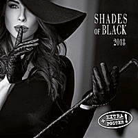 Shades of Black Wall Calendar 2018