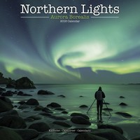 Northern Lights Wall Calendar 2018 by Avonside