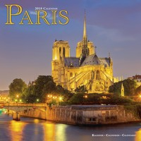 Paris Wall Calendar 2018 by Avonside